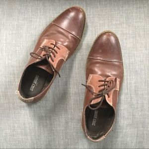 Stacy Adams Brown Leather Lace-Up Dress Shoes 7